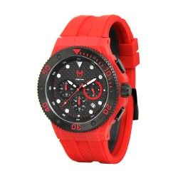MSTR AMBASSADOR MK2-  RED / BLACK WITH RUBBER BAND WATCH image here