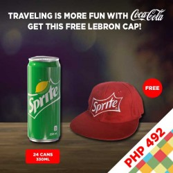 24 CANS SPRITE 330ML + FREE LEBRON CAP BUNDLE image here