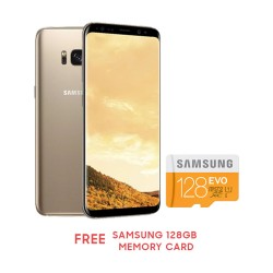 "Samsung Galaxy S8+ 6.2"" 64GB (MAPLE GOLD) Free Samsung 128GB Memory card image here"