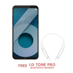 LG Q6 32GB (Ice Platinum) with Free LG Tone Pro Bluetooth Headset image here