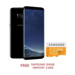 "Samsung Galaxy S8+ 6.2"" 64GB (Midnight Black) Free Samsung 128GB Memory card image here"