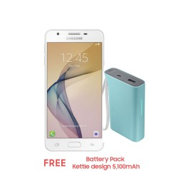 Samsung Galaxy J5 Prime 16GB (White Gold) with Free Battery Pack Kettle design 5,100mAh image here