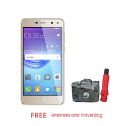 Huawei Y5 2017 16GB (Gold) with Umbrella and Travel Bag image here
