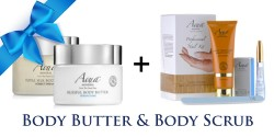 BODY BUTTER AND BODY SCRUB image here