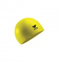 TYR LATEX SWIM CAP YELLOW image here