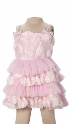 BABY FASHIONISTAS FLORETTES GIRL PARTY DRESS IN PINK image here