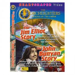 2 IN 1 THE JIM ELLIOT STORY / THE JOHN BUNYAN STORY image here