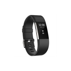 FITBIT CHARGE 2 HEART RATE + FITNESS WRISTBAND - LARGE (BLACK) image here