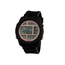 UNISILVER TIME TRAXUS UNISEX BLUETOOTH DIGITAL RUBBER SMART WATCH KW2024-1001 (BLACK/ROSE GOLD)   image here