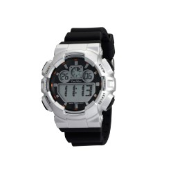 UNISILVER TIME URBANITE COLLECTION MEN'S BLACK DIGITAL RUBBER WATCH KW1491-1007   image here