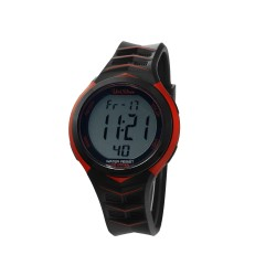 UNISILVER TIME XPEDITE MEN'S BLACK/RED DIGITAL RUBBER WATCH KW2328-1001   image here