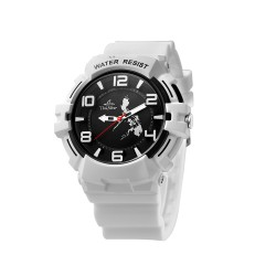UNISILVER TIME BRIAN WILSON'S TRIPPINOY MAKABAYAN RUBBER WHITE/BLACK WATCH KW2084-1001  image here