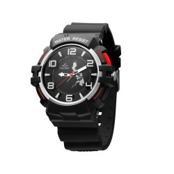 UNISILVER TIME CHARLIE SUTCLIFFE'S TRIPPINOY MAKABAYAN RUBBER BLACK/RED WATCH KW2085-1002  image here