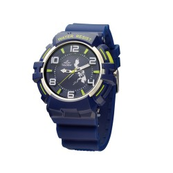 UNISILVER TIME DANIEL MARSH'S TRIPPINOY MAKABAYAN RUBBER NAVY/YELLOW GREEN WATCH KW2086-1003 image here