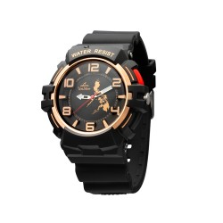 UNISILVER TIME MICHAEL MCDONNELL'S TRIPPINOY MAKABAYAN RUBBER BLACK/ROSE GOLD WATCH KW2087-1004 image here