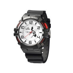 UNISILVER TIME HENRY EDWARDS' TRIPPINOY MAKABAYAN RUBBER BLACK/WHITE WATCH KW2088-1005 image here