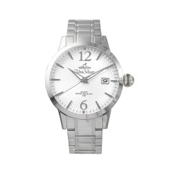 UNISILVER TIME MEN'S GYRO CLASSIC STAINLESS STEEL WHITE WATCH KW2017-1101 image here