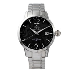 UNISILVER TIME MEN'S GYRO CLASSIC STAINLESS STEEL BLACK WATCH KW2017-1102 image here
