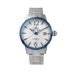 UNISILVER TIME MEN'S GYRO CLASSIC STAINLESS STEEL WHITE / METALLIC  BLUE WATCH KW2017-1105 image here