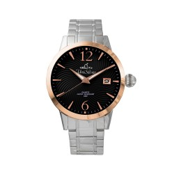 UNISILVER TIME MEN'S GYRO CLASSIC STAINLESS STEEL BLACK / ROSE GOLD WATCH KW2017-1109 image here