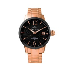 UNISILVER TIME MEN'S GYRO CLASSIC STAINLESS STEEL ALL ROSE GOLD WATCH KW2017-1409 image here