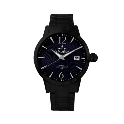 UNISILVER TIME MEN'S GYRO CLASSIC STAINLESS STEEL NAVY BLUE / BLACK WATCH KW2017-1503 image here