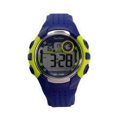 UNISILVER TIME ENZO PINEDA'S PROSTAR DIGITAL RUBBER NAVY BLUE / LIME GREEN WATCH KW2083-1002 image here
