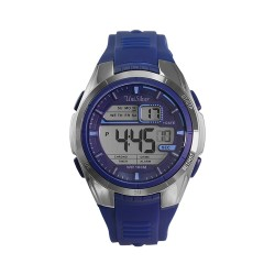 UNISILVER TIME ZYGIS DIGITAL RUBBER BLUE / SILVER WATCH KW2073-1003 image here