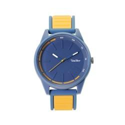 UNISILVER TIME BASELINE ANALOG RUBBER BLUE / YELLOW ORANGE WATCH KW2032-2001 image here