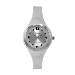 UNISILVER TIME LADIES' DIT-DOTS ANALOG RUBBER WHITE WATCH KW2203-2002 image here