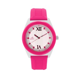 UNISILVER TIME UNISEX NEO CRAZE ANALOG RUBBER PINK / WHITE WATCH KW2186-1002 image here