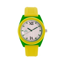 UNISILVER TIME UNISEX NEO CRAZE ANALOG RUBBER YELLOW / GREEN WATCH KW2186-1004 image here