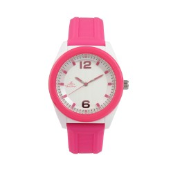 UNISILVER TIME UNISEX NEO POP ANALOG RUBBER PINK / WHITE WATCH KW2187-1002 image here