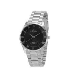 UNISILVER TIME MEN'S CLASSICA PAIR STAINLESS STEEL BLACK WATCH KW2160-1102 image here