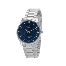 UNISILVER TIME MEN'S ACCOLADE PAIR STAINLESS STEEL BLUE MOTHER-OF-PEARL WATCH KW1913-1103 image here
