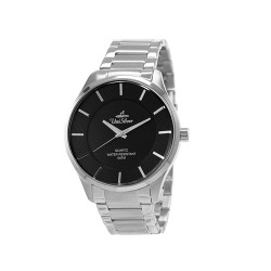 UNISILVER TIME MEN'S CYKLON ANALOG STAINLESS STEEL BLACK WATCH KW2001-1118 image here
