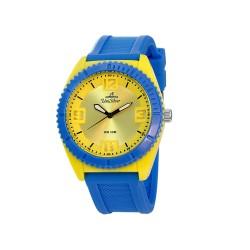 UNISILVER TIME JUAN KARLOS LABAJO'S SMASHERZ ANALOG RUBBER YELLOW / BLUE WATCH KW2195-1001 image here