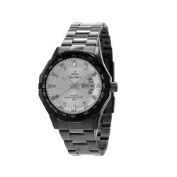 UNISILVER TIME MEN'S TRAXXION ANALOG STAINLESS STEEL WHITE / BLACK WATCH KW2211-1103 image here