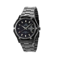 UNISILVER TIME MEN'S TRAXXION ANALOG STAINLESS STEEL BLACK / SILVER WATCH KW2211-1105 image here
