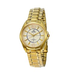 UNISILVER TIME MEN'S SYNERGI STAINLESS STEEL GOLD WATCH KW1827-1206 image here