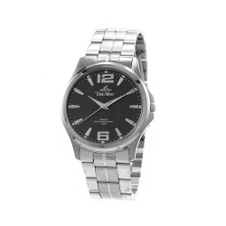 UNISILVER TIME MEN'S STRIATA STAINLESS STEEL WATCH BLACK KW2149-1102 image here