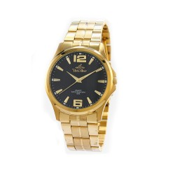 UNISILVER TIME MEN'S STRIATA STAINLESS STEEL GOLD / BLACK KW2149-1205 image here
