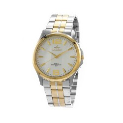 UNISILVER TIME MEN'S STRIATA TWO-TONE STAINLESS STEEL SILVER KW2149-1304 image here