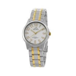 UNISILVER TIME CIRQUO PAIR MEN'S TWO-TONE / WHITE ANALOG STAINLESS STEEL WATCH KW098-1304  image here