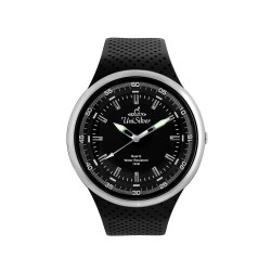 UNISILVER TIME MEN'S BLACK RUBBER WATCH KW1352-1102  image here