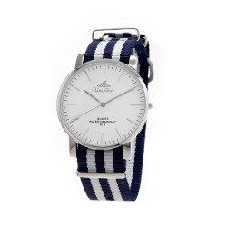 UNISILVER TIME UNISEX STYL-O-LOGY NYLON STAINLESS STEEL NAVY / WHITE WATCH KW2155-1109 image here