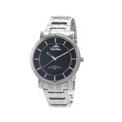 UNISILVER TIME MEN'S CONFLUENCE ANALOG STAINLESS STEEL SILVER / BLACK KW2260-1102 WATCH image here