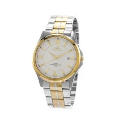 UNISILVER TIME MEN'S CONFLUENCE ANALOG STAINLESS STEEL TWO-TONE / WHITE KW2260-1304 WATCH image here