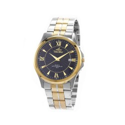 UNISILVER TIME MEN'S CONFLUENCE ANALOG STAINLESS STEEL TWO-TONE / BLACK KW2260-1305 WATCH image here