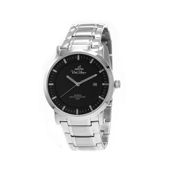 UNISILVER TIME MEN'S VANTEDGE-LINEAR PAIR ANALOG STAINLESS STEEL SILVER / BLACK WATCH KW1957-1102 image here